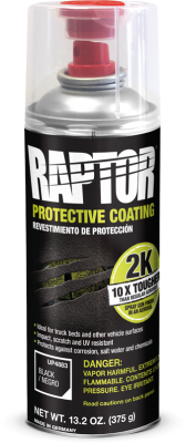 U-POL Raptor 2K spray, musta